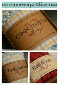 Crochet Tags for your handmade works of art