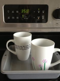 """Personalized Mugs """"Grandmas are moms with lots of frosting"""" how perfect! I have to remember that.."""