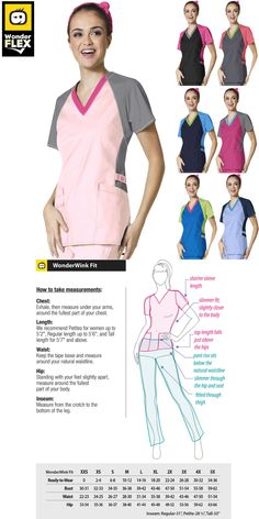 f7096c457ae Sets 105432: Wonderwink Flex [Xxs-3Xl] Women S Medical V-Neck