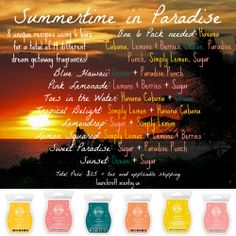 Spring  Summer 2014 Scentsy Recipes ~ Click the pic to order!! #Scentsy #addictedtoScentsy