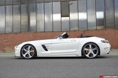 Photo gallery with 14 high resolution photos. Check out the gallery Mercedes-Benz SLS AMG Roadster MEC Design images at GTspirit.
