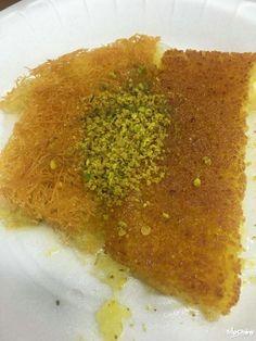 National dessert Kanafeh at Al Quds Restaurant, Amman, Jordan
