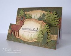 Happy Birthday Stepper Cards by Clare Buswell for Core'dinations