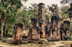 The ruins of this ante-bellum sugar plantation are the end result of a Seminole attack during the Florida Wars of 1836