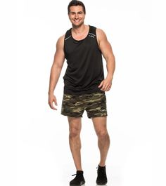 Make room for men's fitness shorts in your wardrobe this season because Alanic has designed a sartorial collection of fitness wear you cannot afford to miss. Workout Wear, Workout Shorts, Mens Activewear, Summer Shorts, Camo, Active Wear, Tank Man, Fitness Wear