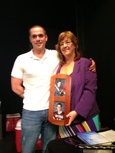 Brad & I at my book signing - LOVE him! (holding a picture of his older brother Brent)