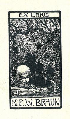 [Ex libris E. W. Braun] by Stifts- och landsbiblioteket i Skara, via Flickr