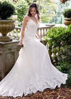 Courtesy of Sophia Tolli Wedding Dresses from Mon Cheri