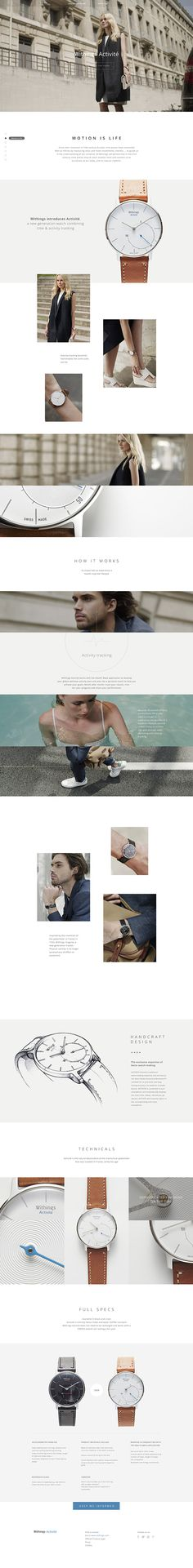 Withings Activité on Behance