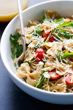 "do-not-touch-my-food: ""Arugula Pasta Salad "" Pasta Recipes, Soup Recipes, Vegetarian Recipes, Dinner Recipes, Cooking Recipes, Healthy Recipes, Dinner Ideas, Best Pasta Salad"