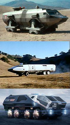 Promotheus, Ark II, Damnation - large land transportation vehicles #scifi #sciencefiction #trucks