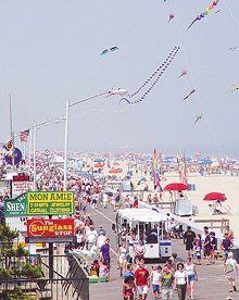 the ocean city boardwalk ocean city maryland c1928 ocmd vintage rh pinterest com