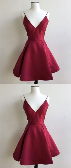 burgundy homecoming dresses, simple fashion dresses, chic a-line party dresses.