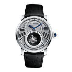 #Cartier Rotonde De Cartier Mysterious Double #Tourbillon Platinum #Watch