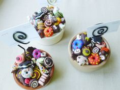 polymer clay Polymer Clay Jewelry, Panna Cotta, Ethnic Recipes, Food, Dulce De Leche, Eten, Meals, Diet
