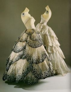 Christian Dior ball gowns from 1949.