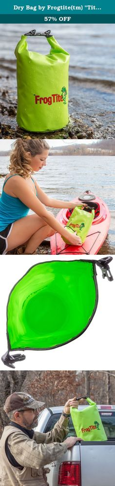 """Dry Bag by Frogtite(tm) """"Tite as a Frog's Ass"""" Waterproof Sack Heavy Duty Gear Protector for Boating, Kayaking, Snowboarding, Skiing, Camping, Fishing, Hunting, Survival and Prepper (15 Liter). THE BEST AND COOLEST DRY BAG ON THE MARKET TODAY! This high quality, heavy duty bag puts all others to shame - Perfect for Hunting and Fishing - Great for Kayaking and Boating - Sturdy Construction- will last forever - Protects your most valuable gear from all of the elements - Extremely…"""