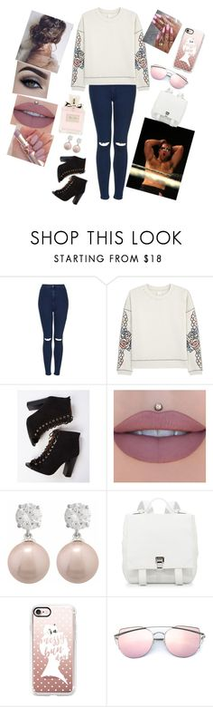 """the stalker #38"" by annaconley on Polyvore featuring Topshop, Pinko, WWE, Jankuo, Proenza Schouler, Casetify and Christian Dior"