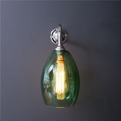 This green coloured glass wall light is simple and elegant. A lovely pop of colour to add some fun to any space. Glass Wall Lights, Bathroom Wall Lights, Wall Sconces, Bathroom Lighting, Glass Pendant Light, Glass Pendants, Pendant Lights, Barn Lighting, Outdoor Wall Lighting