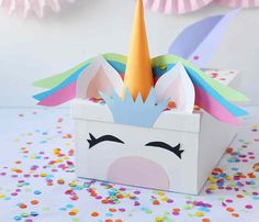 Unicorn valentine's day boxes are ridiculously cute and simple to make Unicorn Valentine, Valentine Day Boxes, Valentine Crafts, Valentine Ideas, Crafts For Kids To Make, Crafts For Teens, Crafts To Sell, Diy And Crafts Sewing, Diy Crafts