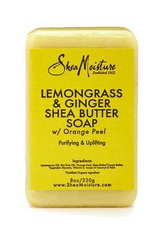 Lemongrass & Ginger Shea Butter Soap  -