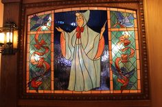 Fairy Godmother stained glass in the Bibbidi Bobbidi Boutique