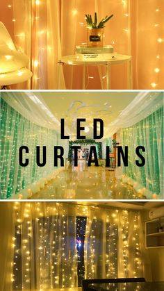 Curtains, Led, Mirror, Garlands, Bedroom, Decoration, Home Decor, Wedding, Wreaths