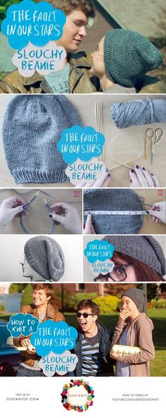 How to Knit 'The Fault in Our Stars' Slouchy Beanie  by Studio Knit
