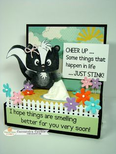 Peachy Keen Stamps ~ Cheer Up tissue box - bjl