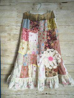 Pink Sunshine Shabby Gypsy Peasant Floral Boho lace Festival