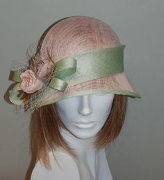 c504e94a8ac Romantic pale pink vintage style cloche hat for women - Pink hat for  weddings