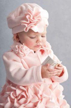 Baby Pink Flower Coat Preorder 9 Months to Precious Children, Beautiful Children, Beautiful Babies, Simply Beautiful, Little Girl Dresses, Little Girls, Girls Dresses, Cute Kids, Cute Babies