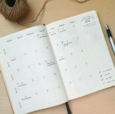 planner from @penpapersoul