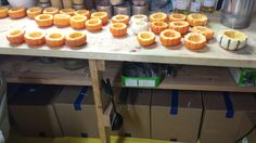 Pumpkin Candles in production!