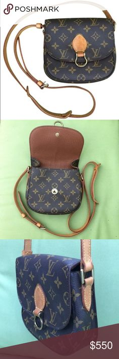 Louis Vuitton Saint Cloud Crossbody bag Perfect addition to any wardrobe. This is a slightly warm but in amazing condition Louis Vuitton Saint Cloud crossbody bag. Guaranteed authentic. The only touchable wear is the lining of the exterior pocket. Whatever coating they use is peeling and this has happened to other bags I've purchased from LV. You can easily fit a small wallet/card case, phone, keys, lip gloss - all the essentials. It does come with the dust bag. Louis Vuitton Bags Crossbody…