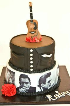 Johnny Cash cake from Southern Bee Cupcakes. https://touch.facebook.com/home.php?refsrc=https%3A%2F%2Ftouch.facebook.com%2F&refid=8&_rdr