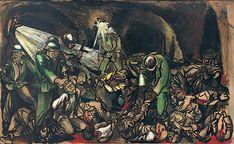 Renato Guttuso, Fosse Ardeatine, 1950, Collezione Luciano Lenti , Valenza (AL) Italian Painters, Dark Art, Van Gogh, Sculpture, 1950, Paradise, Photographs, Cinema, Paintings