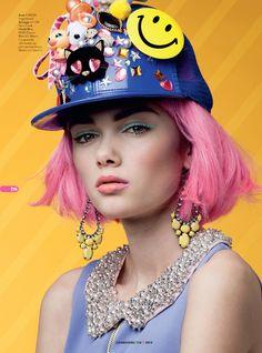 Editorial Hey Funky Bunny de Cosmo Girl Nueva Zelanda inspirado en el estilo harajuku