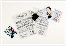 Photojojo has the coolest products for your camera - who wouldn't want a gift card?!