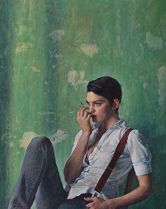 Alex Russell Flint painting