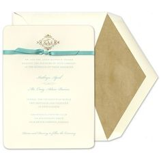 Robin's Egg Bow Invitations - William Arthur