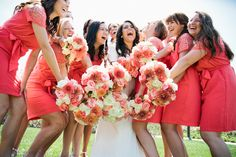 A Coral, Pink, Gray & Cream Newport Beach Temple Wedding | Fab You Bliss