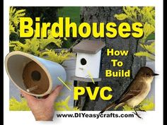 These PVC bird houses will make great additions to your backyard! Owning a pet nowadays surely feels like you're raising a child. Besides having to feed. Pvc Projects, Backyard Projects, Outdoor Projects, Easy Diy Projects, Garden Projects, Bird House Plans, Bird House Kits, How To Build Abs, Bird Houses Diy