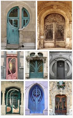 Art Nouveau Doors from around the world. Beautiful Architecture, Beautiful Buildings, Architecture Details, Interior Architecture, Exterior Design, Interior And Exterior, Art Nouveau Arquitectura, Jugendstil Design, Photo Deco