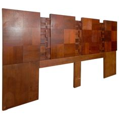 Brutalist Style Mid-Century Modern Headboard By Lane | From a unique collection of antique and modern beds at http://www.1stdibs.com/furniture/more-furniture-collectibles/beds/