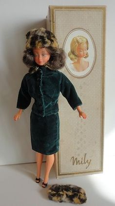 """Vintage '60's French fashion doll """"Mily"""" by GeGe."""
