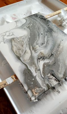 Gray Marble Acrylic Pour - Painting Ideas - What is Your Painting Style? - Gray Marble Acrylic Pour – Painting Ideas – What is Your Painting Style? Marble Painting, Pour Painting, Acrylic Paintings, Painting Tools, Painting Art, Encaustic Painting, Art Paintings, Acrylic Artwork, Marble Art