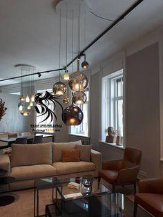 Design Light, Industrial House, Home Lighting, Light Decorations, Architecture Design, Kitchen Design, Glow, Chandelier, House Design