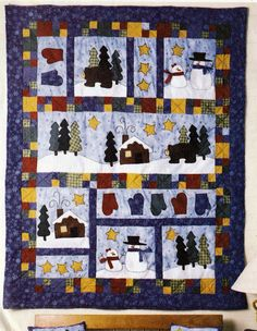American Tradition Winter Holiday Quilt Mantle Cover Pillows Christmas Stockings McCalls Crafts 2443 Sewing Patterns