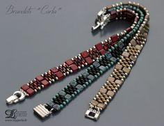 Bracelets Perles de verre carrées et ovales à deux par Lilyperles